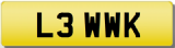 LEWIS WK Private Registration Cherished Number Plate LEW LEWIE LOUIE LOUIS